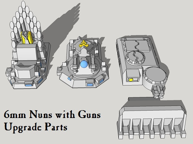 Epic Nuns-with-Guns Upgrade Parts