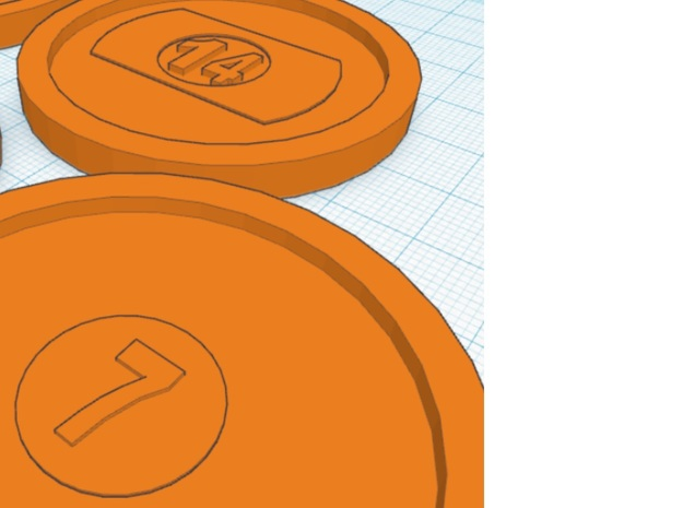 Air Hockey Table Billiards Pool Puck Set 3d printed