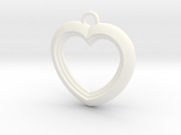 Cascading Heart Pendant 3d printed