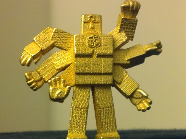 "AshuraShine 3d printed AshuraShine in ""Gold Plated Glossy""!"