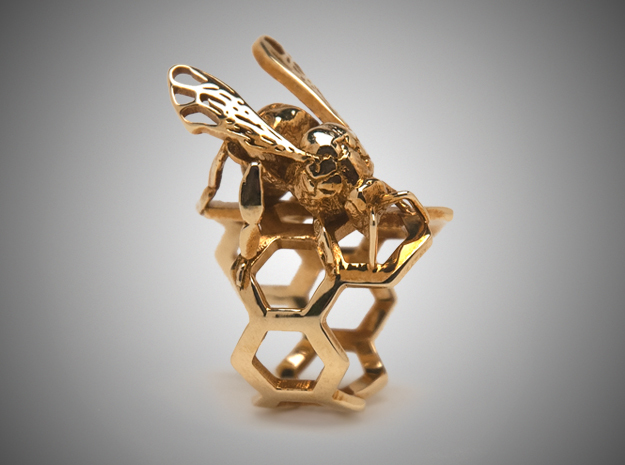 Western Honey Bee Ring (Sizes 5-12)
