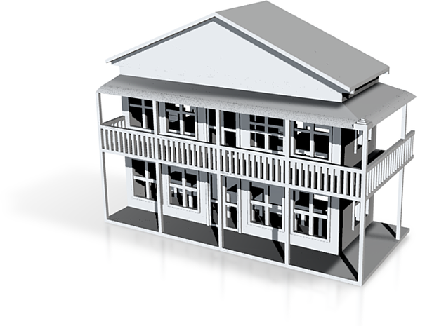 Two Story Pub Front 1:120 3d printed