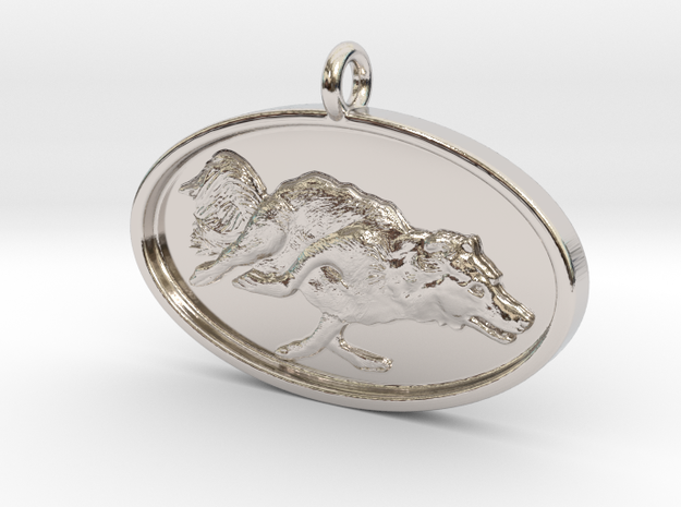"Agility Dog Pendant - 1 1/4 "" Border Collie."