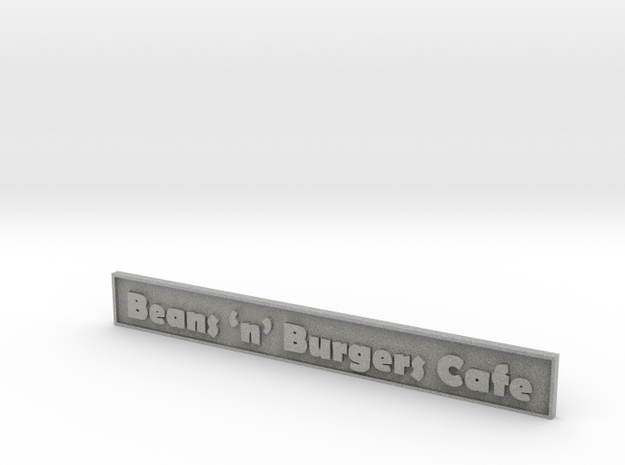 "1:24 Cafe Sign 5.5"" 3d printed"