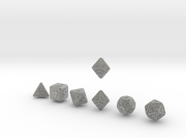 FUTURISTIC Outie Double Bevels dice 3d printed