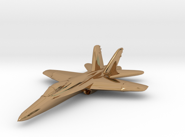F18e Jet Aircraft - Monopoly Metal Model 3d printed