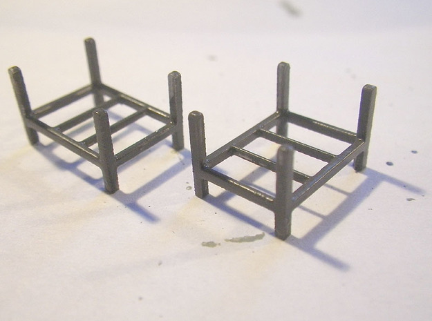 Steel Storage Rack 1-87 (HO Scale) 3d printed Painted FUD Prints