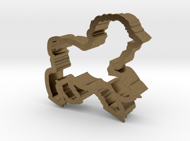 Lamb shaped cookie cutter 3d printed