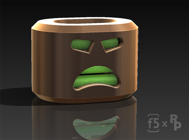 Angry Bob the FlatBead 3d printed Rendered image