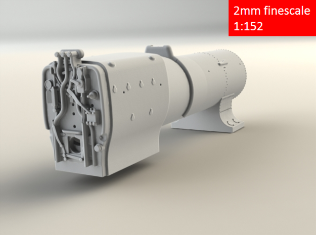 3700 City Class boiler, smokebox, firebox, 2mm FS 3d printed Rear rendering
