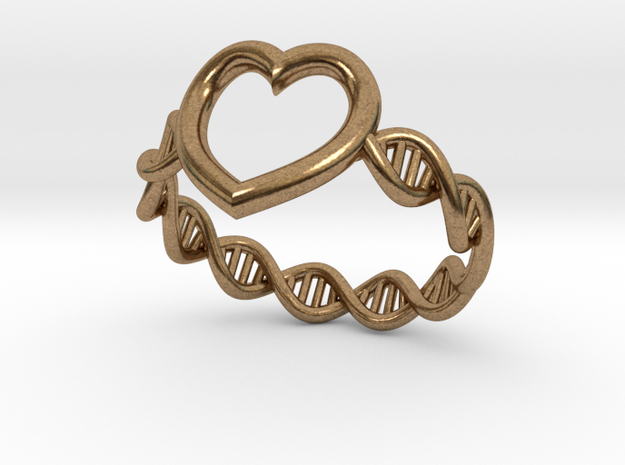 Heart DNA Ring 3d printed