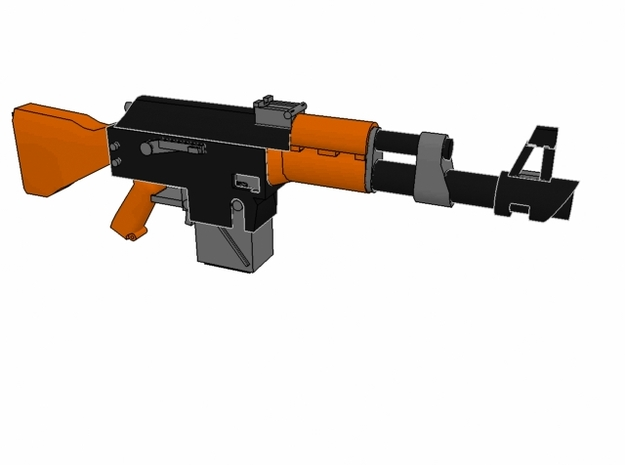 x10 SciFi LK-47 laser rifles for 28mm miniatures 3d printed