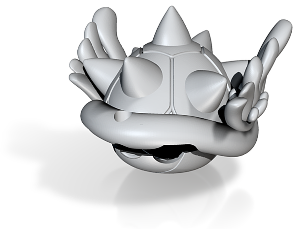 Blue Spiney Shell Mario Kart 3d printed