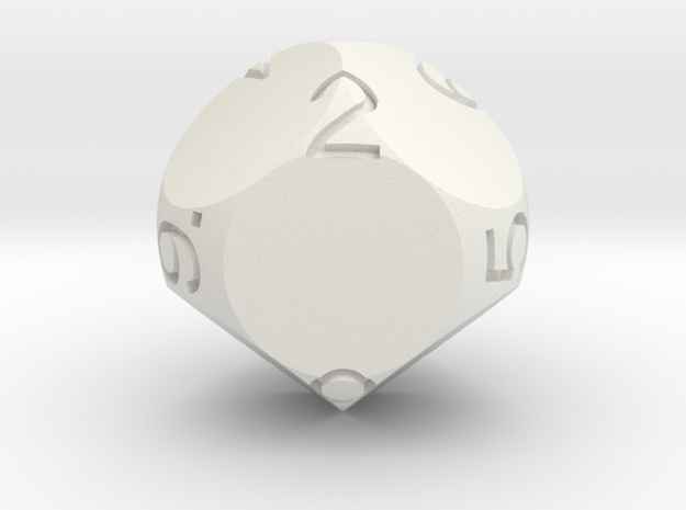 D9 Sphere Dice 3d printed in Red Strong and Flexible
