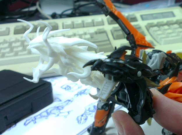 TFP Voyager Beast King Head+Neck 3d printed