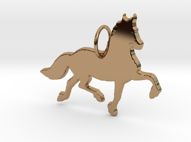 Friesian horse silhouette pendant made by 3d print