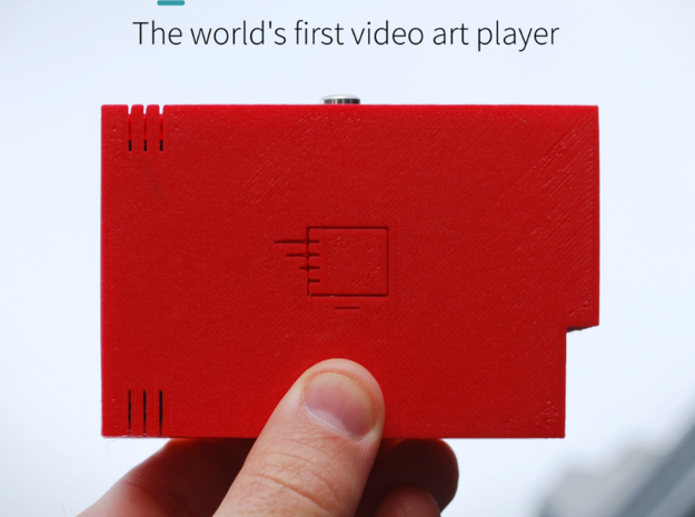 Artbox Case for Raspberry Pi 3d printed Artbox is the worlds first video art player