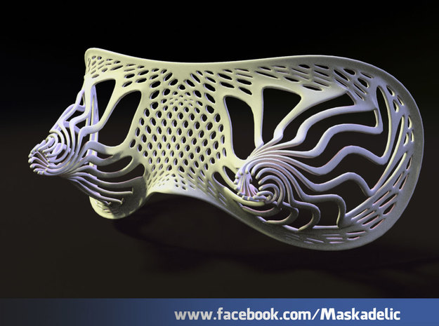 Party Mask Tunnel Vision: Tendril 3d printed outer view