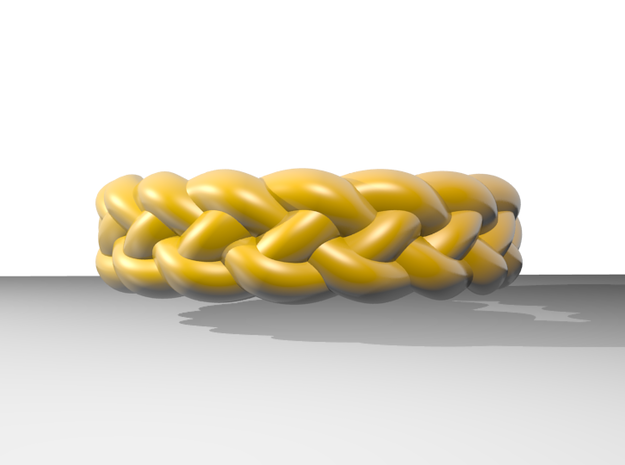 4 Strand Tight Ring 3d printed