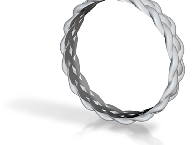 4 Strand Loose Ring 3d printed