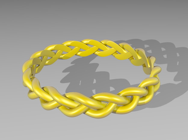 3 Strand Loose Ring 3d printed