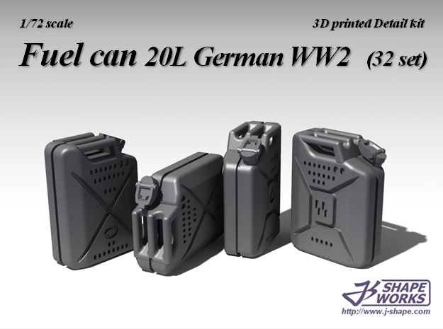 1/72 Fuel Can 20L German WW2 (32 set)