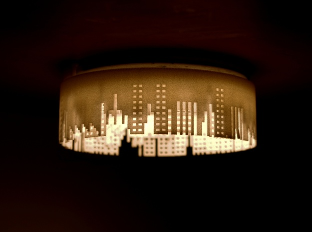 City lights small halogen light shade 3d printed City Lights