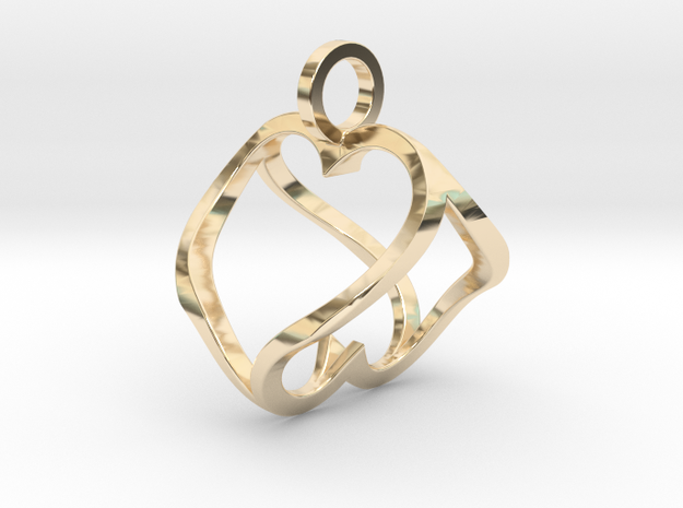 """""""Heart to Heart"""" Pendant 3d printed"""
