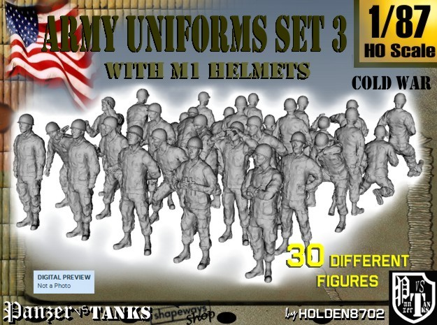 1-87 Army Modern Uniforms Set3