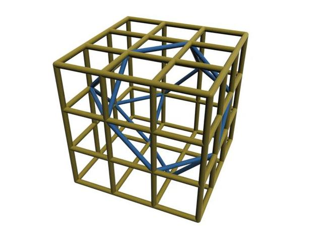 Truncated Tetrahedron 3d printed CG Rendering