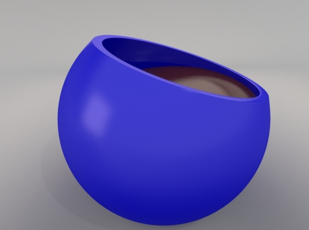 Sinking espresso cup (no handle version) 3d printed render