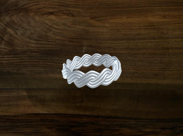 Turk's Head Knot Ring 2 Part X 13 Bight - Size 6.2 3d printed