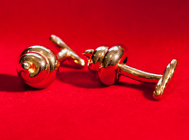 Lucky Golden Poo Cufflinks 3d printed