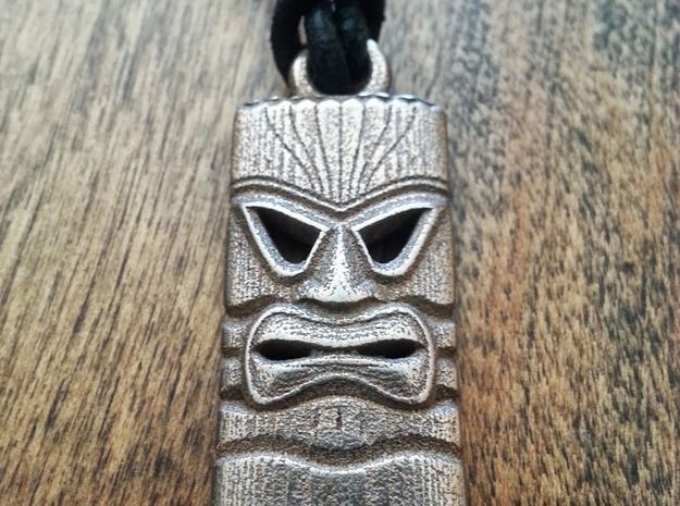 Tiki Mask - Pendant - V2 - 1.5 3d printed Tiki Mask from our Tiki Bar mini-project.  Just add wax cord for the perfect pendant!