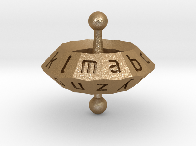 Space alphabet 3d printed