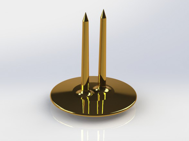 Corn Cob Holder- Tines 3d printed Gold Plated Brass Tines
