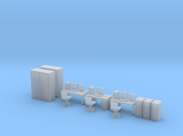 N Scale Office Furniture