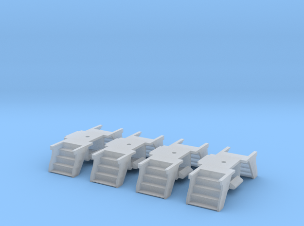 4 Pack N Scale PRR Steps for Lima/MP Cars