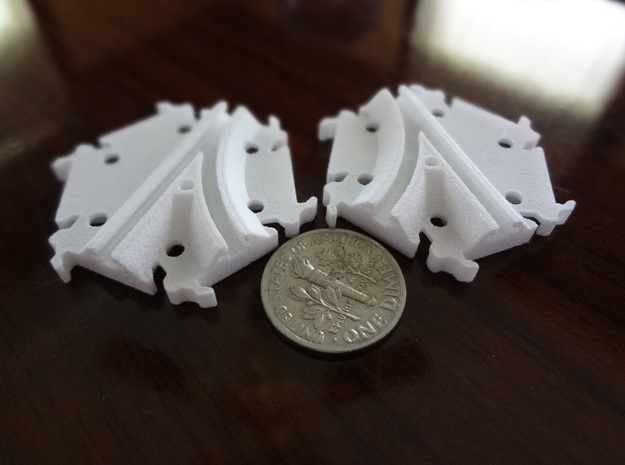 Track Switches (simple) 3d printed Track switches (simple version - no moving parts)