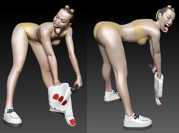 Miley Cyrus Twerking 3d printed