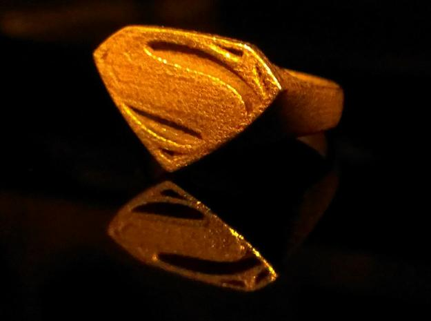 Man Of Steel - Ring 3d printed Stainless Steel