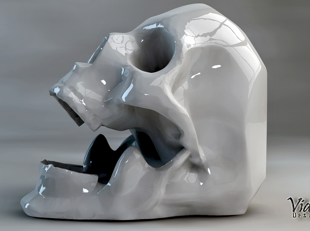 Skull ashtray 3d printed