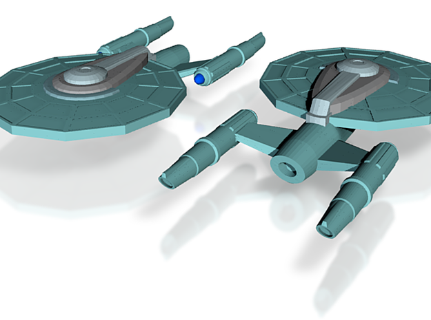 USS Tranquility 3d printed