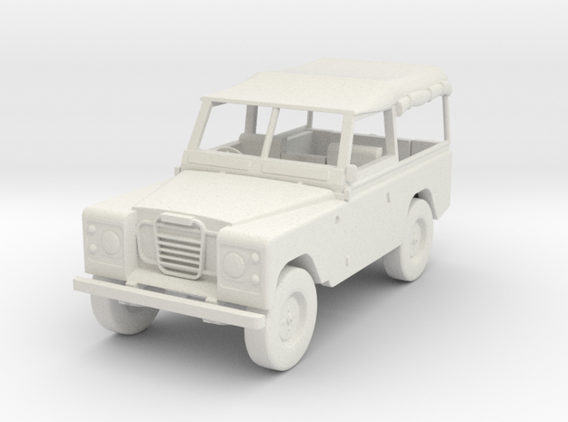 1:72 Scale Landrover 3d printed