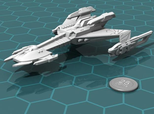 Ngaksu Stormfront 3d printed Render of the model, with a virtual quarter for scale.