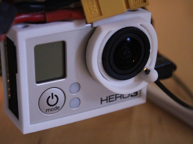DJI Phantom FO-OSD (Fibre Optic OSD) - d3wey 3d printed Output of the LED shown in GoPro Image