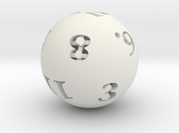 Round 12-sided die 3d printed