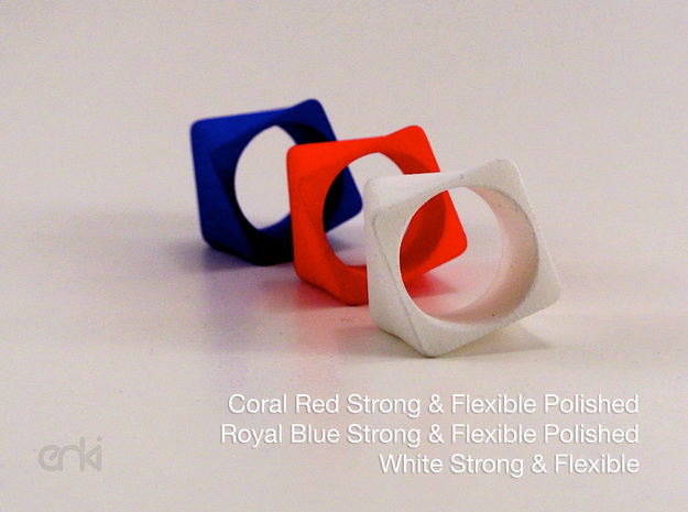 Twisted Cube - Ring - size56 - diam17,8mm 3d printed