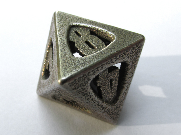 Thoroughly Modern Die8 3d printed In Stainless Steel