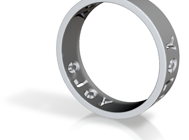 YOLO TYPE 1, Size 4.5 Ring Size 4.5 3d printed